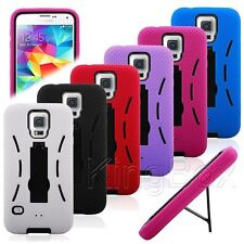 2in1 Impact Plastic & Silicone Robot Stand Case Cover for Samsung Galaxy S5 G900