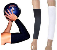 1 Pair Arm Sleeves Cover Sun Armband Skin Protection Sports Stretch Basketball J