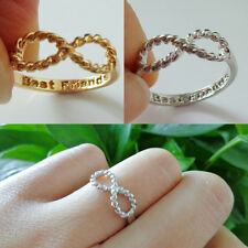 Best Friends Words Letter Infinite Infinity Bowknot Finger Ring Rings Gift Charm