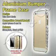 Bumper frame Case for Apple Iphone 5 5s New Aluminium Design Thin Hard Chain