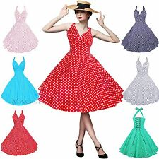 Maggie Tang 50s 60s Swing Polka dot Dress Pinup Vintage Rockabilly Retro TT501
