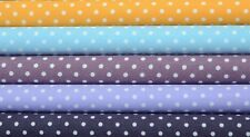 Quilt Half Yard Cotton Fabric Patchwork Pastel Polka Dot Yellow Purple Blue