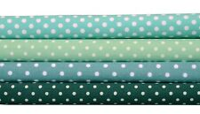 Quilt Half Yard Cotton Fabric Patchwork Pastel Polka Dot Green Color Tones