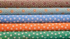 Quilt Half Yard Cotton Fabric Patchwork Flower Dots Circle Dots in Pastel Colors