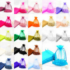 100 Pcs Sheer Organza Wedding Party Favor Decoration Gift Candy Pouch Bag #YMLA1