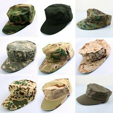 Mens Womens Camo Camouflage Curved Patrol Visor Cadet Army Military Cap Box Hat