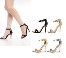 Ankle Strap Plain Single Strap Heels #Chacha-s