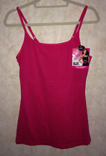 NEW Womens SWEET NOTHINGS Hot Pink Firm Control Shapewear Tank Top Cami L XL 2XL