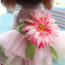 New Pet Clothes Puppy Clothing Dog Princess Tutus Dress With Sunflower Shirt