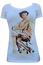 Women's Tattoo Betty Tee by Alex Nunez Tattoo Ink Pin Up Retro Vintage