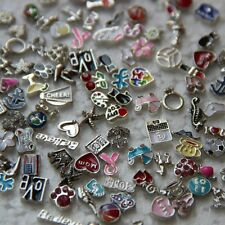 Lot of Cute Floating Birthstone Charms Living Memory Locket Crystal Love Faith