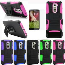 For LG G2 AT&T Sprint T-mobile Verizon Stand Combo Rugged Case Cover & Holster