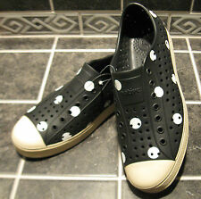NWOB NATIVE Jefferson Adult Shoes Unisex Sz M9/W11 Polka Dot RARE Black or White