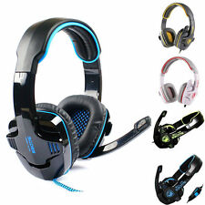 Sades HIFI Stereo Sound Headband 3.5 mm For PC Laptop Pro Gaming Headset w/Mic