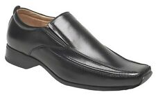 Mens Leather Lined Smart Casual Twin Gusset Slip On Shoes Size 6 7 8 9 10 11 12