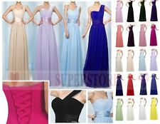 Pleated Shoulder Long Dress Bridesmaid Lace up  Formal Ball Prom Evening INSTOCK