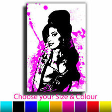 Abstract Canvas Art Print Amy Winehouse Picture box framed Picture ready to hang