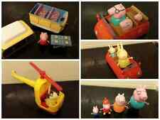 peppa pig sets,family mum dad peppa george grampa dog truck  helicopter car
