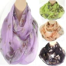 Butterfly Circle Loop Infinity Scarf Snood New Spring Summer Style