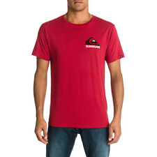 Quiksilver Nomad Blocked L6 Organic Mens T-shirt Red All Sizes