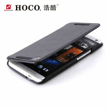 GENUINE HOCO HTC ONE M7 HAND MADE REAL LEATHER FLIP STYLE FOLDING CASE COVER