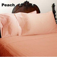 Bed Skirt 1PC 1000TC (Full/Queen/King)100%Cotton Stripe Peach Select Drop Length