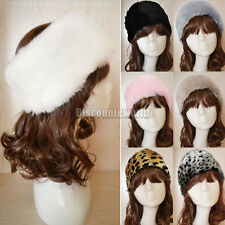 Ladies Womens Luxury Faux Fur Headband Winter Ski Ear Muffs Earwarmers Hat
