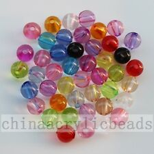 4-20MM Assorted Colors Transparent Acrylic Round Ball Jewelry Spacer Beads Free