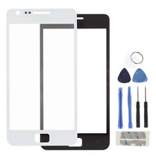 Black/White Front Glass Lens Replacement for 4.3 Inch Samsung Galaxy S2 II+Tools
