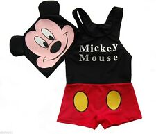 NEW Toddler/Kids/Boys/Childs Disney Mickey Mouse Swimsuits Sets w/Cap Sz: #m2