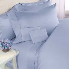 800TC USA Sale 1-Piece Room Fitted Sheet 100%Cotton Solid Blue (Queen/King)!Yo