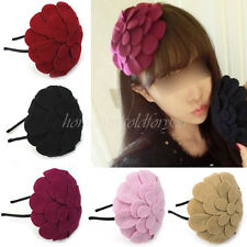 Korean Style Fashion Women Lovely Big Flower Metal Hair Hoop Headband Gift New