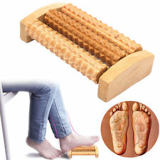 Wooden Foot Wood Massager Reflexology Roller Stress Relax Relief Massage Spa HOT