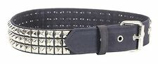 Canvas Three Row Studded Belt Punk, Metal,Thrash, Rock Heavy Metal UK 70's