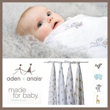 ★ Aden and Anais Classic Swaddle Wraps Muslin Cotton Jungle Jam + Other Prints ★