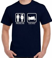 Problem Solved - Mens Funny Superbike T-Shirt. Motorbike Bike Moto GP
