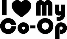 "I Love Heart My Co-Op - 6.35"" x 3.75"" - Choose Color - Vinyl Decal Sticker #2723"