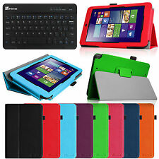 For ASUS VivoTab Note 8 M80TA Tablet Leather Case Cover + Bluetooth Keyboard