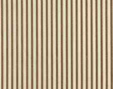 French Country Ticking Stripe Suede Brown Twin Comforter Cotton Reversible