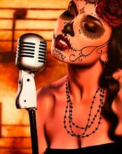 Mi Cancion by Daniel Esparza Canvas Giclee Day of the Dead Dia De Los Muertos