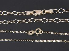 Solid 10k yellow gold Flat Link Necklace chain 10kt Italian gold chain necklace