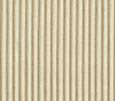 "2 Tab Top 84"" Curtain Panels Ticking Stripe Linen Beige 150"" wide Patio"