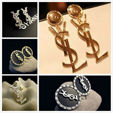Fashion Gold Vintage Metal Drop Letter Style Celebrity Earrings Ear Stud HOT