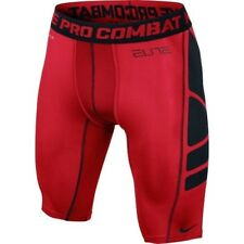 """NEW Mens Sz S NIKE 9"""" Elite Hypercool Basketball Compression Training Shorts Red"""