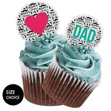Cut Happy Fathers Day - DAD Moustache Cake Cupcake Topper SIZE CHOICE