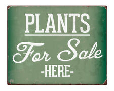 "Plants for Sale here 8x10"" Metal Sign Farm shabby chic Business Property #251"