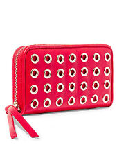 STEVE MADDEN HANDBAG BGROMET ZIP AROUND WALLET IN RED OR WHITE-NWT-RP $48