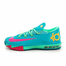 Nike KD VI GS [599477-304] Basketball Hero Turbo Green/Pink-Nighrshade-Ice