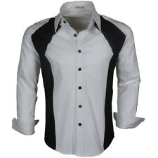 Katalyst Clothing Haze Mens White Fitted Button Down Shirt Casual Dress Shirt
