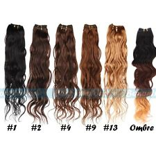 """12""""-28"""" Remy Brazilian Virgin Wave 100% Real Human Hair Weaving Weft Extensions"""
